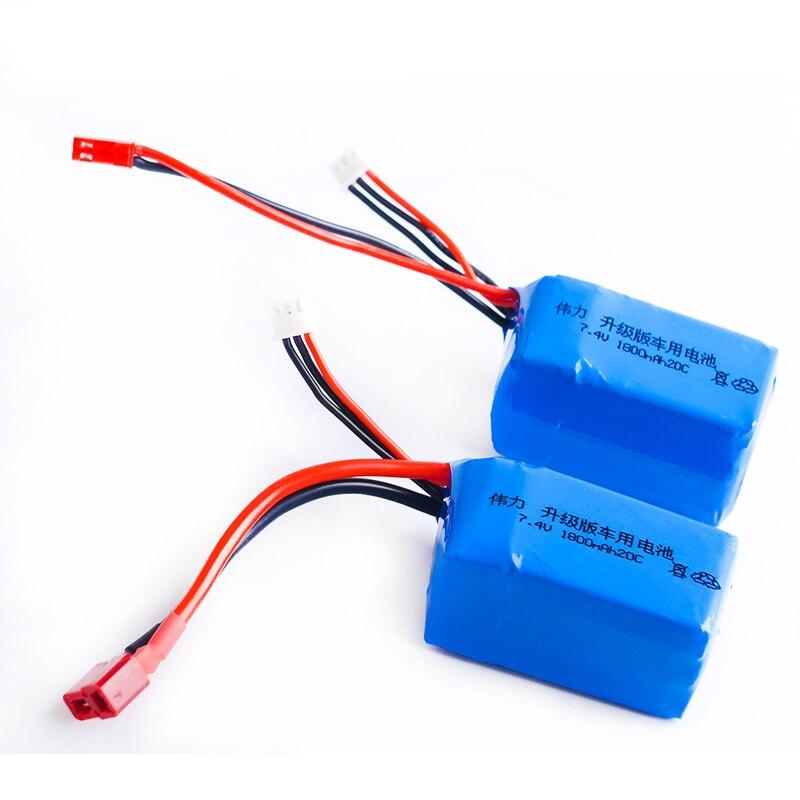 1pcs Li Polymer 2S Lipo font b Battery b font 7 4V 1800mah 20C Max 40C
