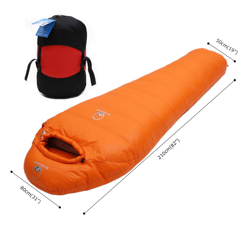 Hiver ultra-léger thermique adulte momie 95% blanc en duvet d'oie sac de couchage avec Pack de Compression pour sac à dos Camping randonnée