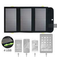Folding Solar Cell Solar Panel Charger 4 USB 8000mAh Solar Battery Charger Charge For IPhone IPad