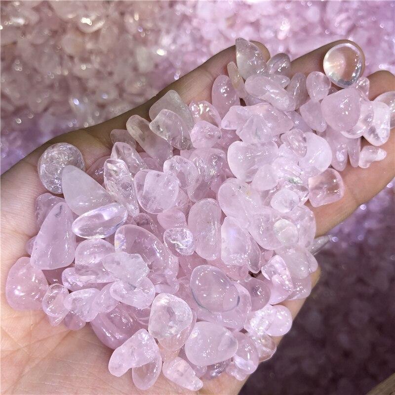 1 kg rose quartz cristal gravier pierre de poche pierre gravier chine rugueux spécimen en gros pas cher livraison directe - 4