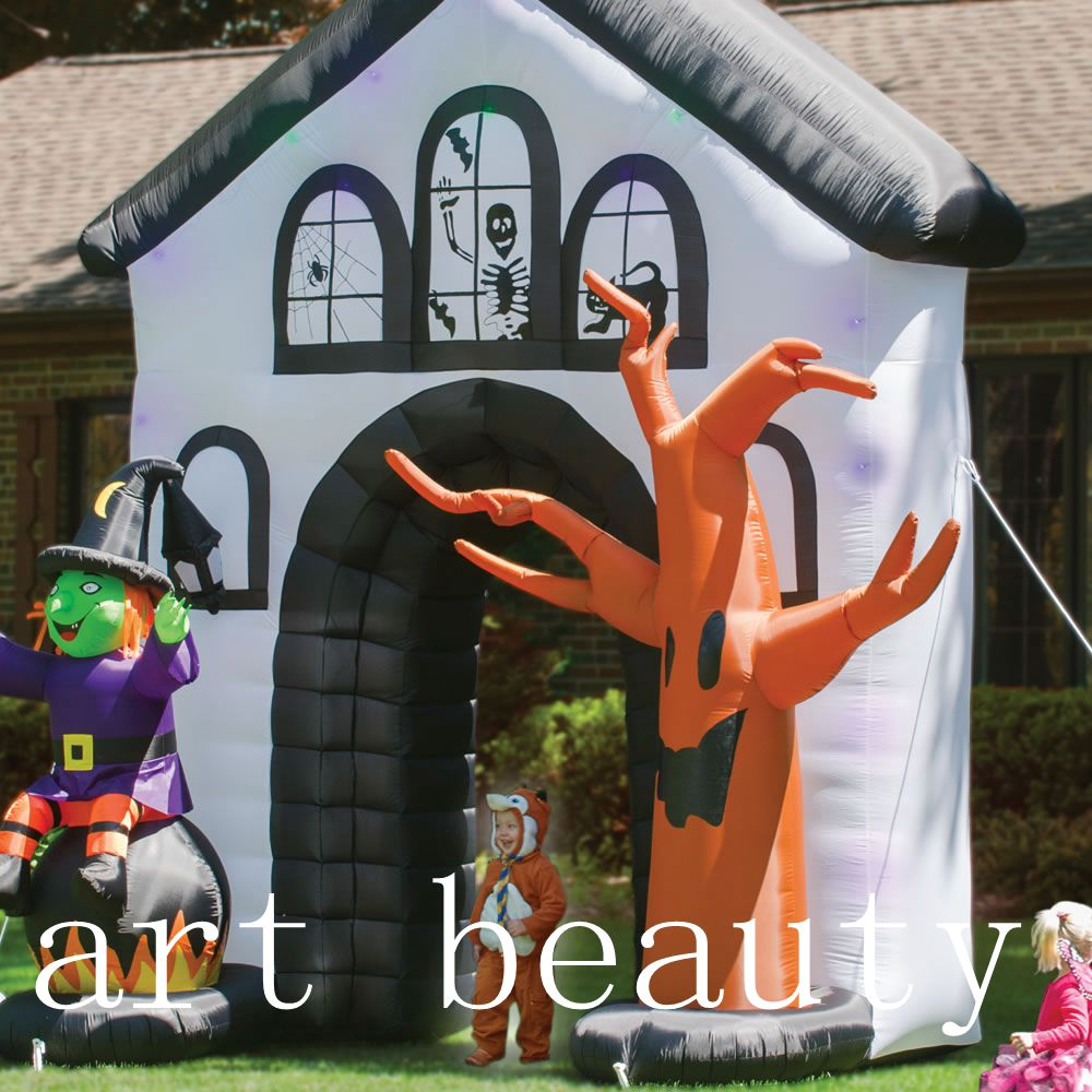 Yard decoration haunted house witch dead tree halloween