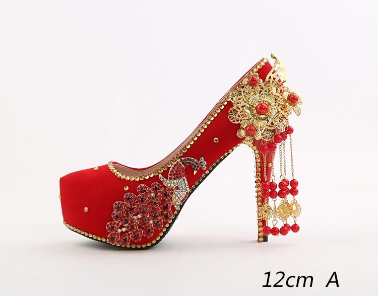 3fb9ab497efc69 ... 23 2018 Spring Red Stiletto High Heeled Platform Pumps Wedding Pointed Bridal  Shoes Online 14cm Hot Sale ...