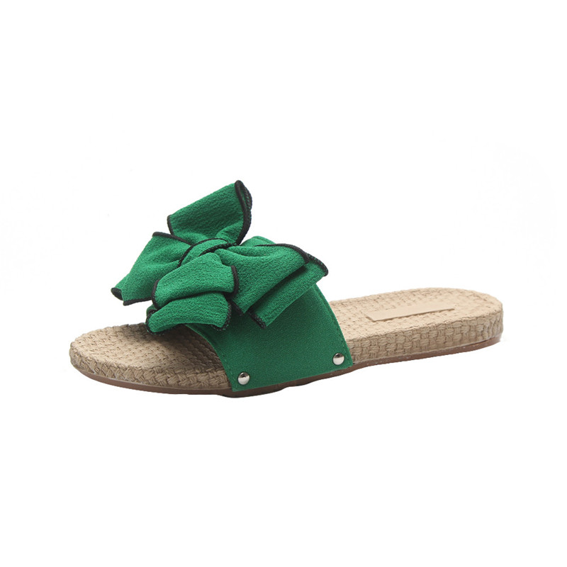 New Women Bow Bowtie Butterfly Knot EVA Summer Sandals Slipper Indoor Outdoor Flip-flops Beach Shoes Female sandals schuhe damen lastest women summer sweet sandals slipper fashion solid color suede flower bow hasp flat heel square toe sandals schuhe damen