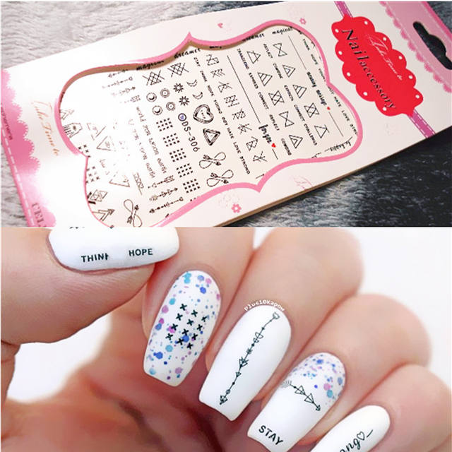 1Pc Geometric Nail Water Decals