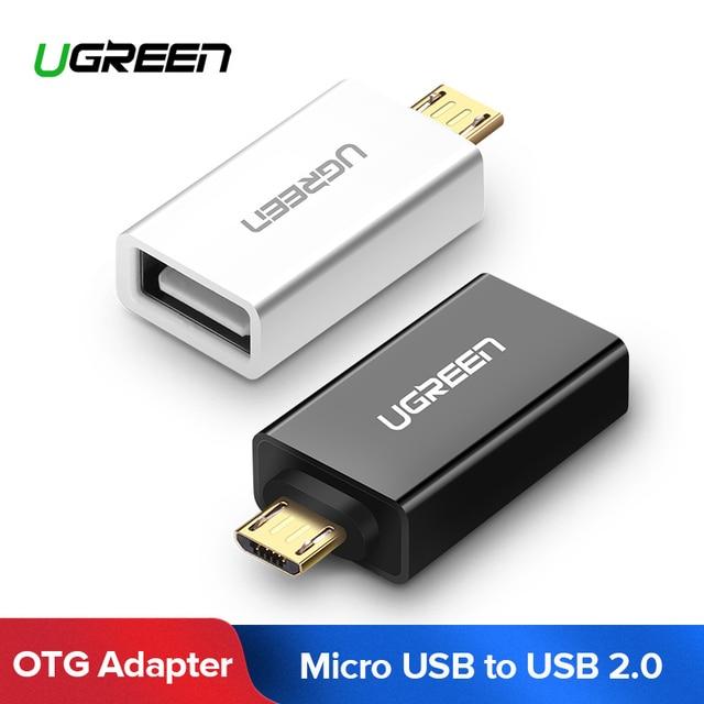 Ugreen Cable OTG Cable Micro USB macho a hembra adaptador USB 2,0 OTG Convertidor para Samsung Galaxy S7 Galaxy Nota 5 galaxy Tab 3 Tablet