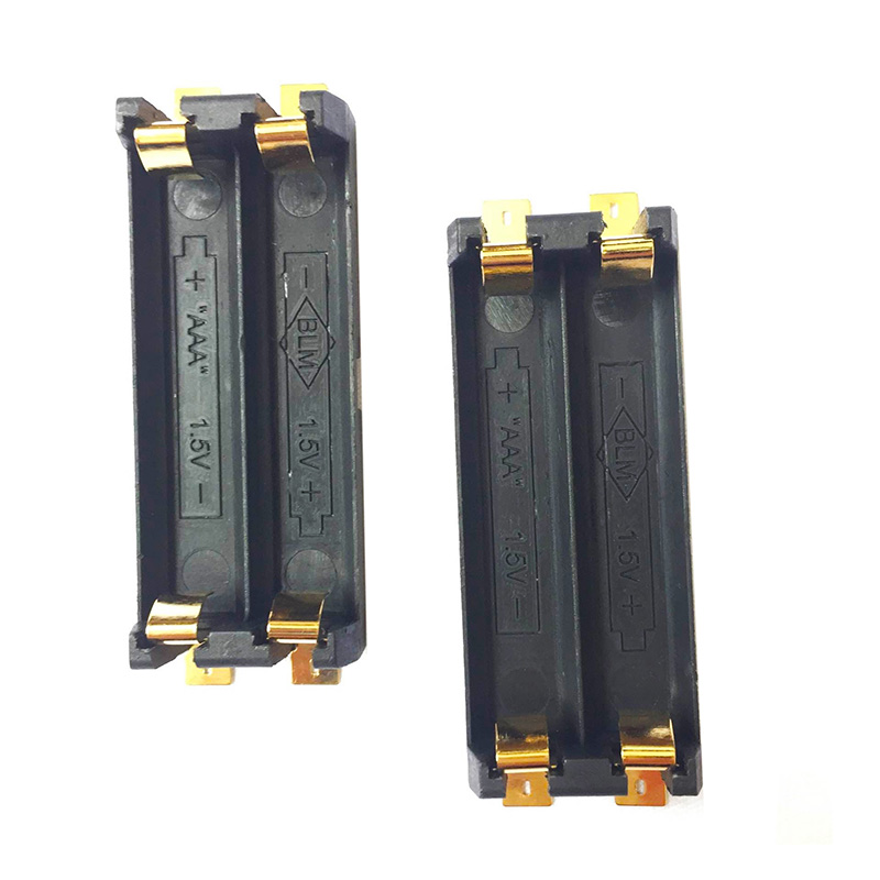 1Pcs/lot Best quality SMT SMD 2 x AAA 1.5V Battery holder|Battery Storage Boxes| |  - title=