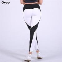 Oyoo Sexy Contrast Tim Legging Màu Đỏ Chạy Vớ Phụ Nữ Thể Thao Quần Phòng Tập Thể Dục Quần Áo Thể Thao Xà Cạp Fitness Hot Lưới Quần Yoga