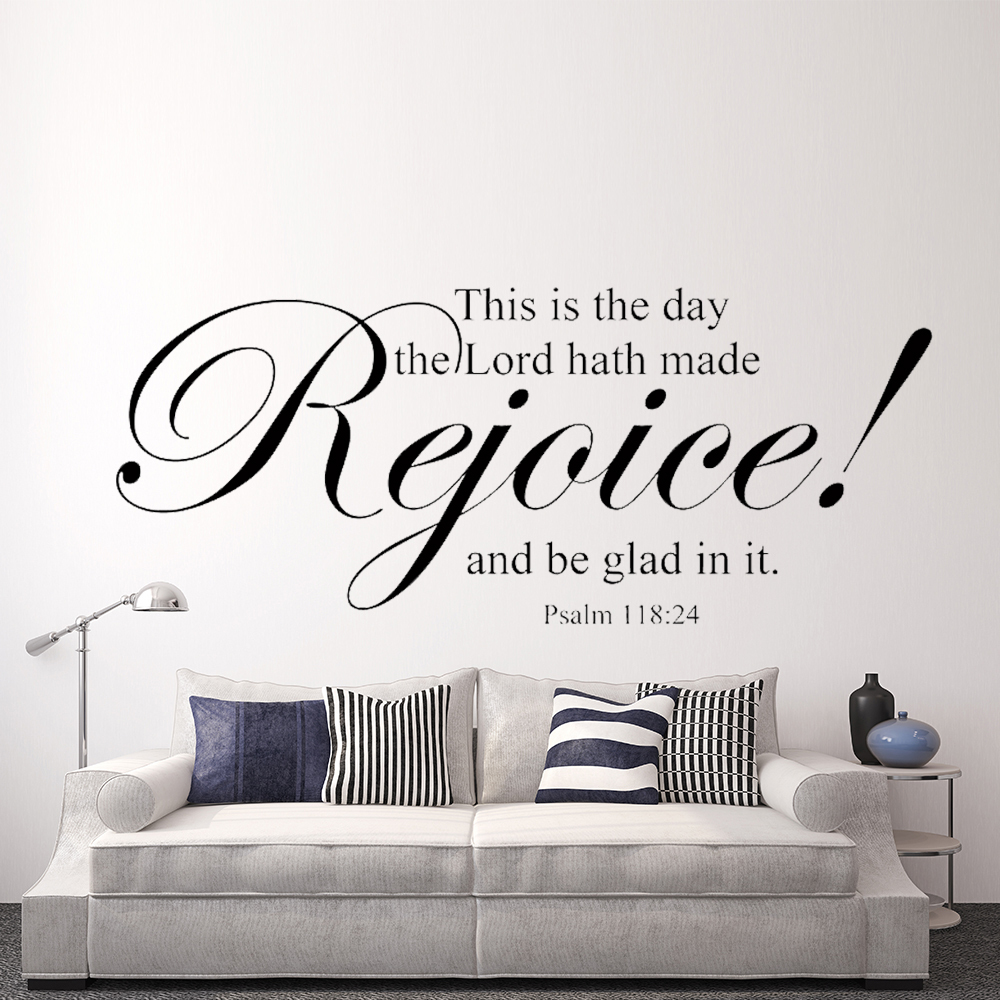 Aliexpress.com : Buy This Is The Day The Lord Hath Made Rejoice Scripture  Wall Words Bible Verse Vinyl Home Decor 18 Part 43