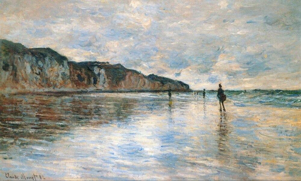 Haute qualité peinture À L'huile Toile Reproductions Marée Basse à Pourville (1882) Par Claude Monet peint à la main