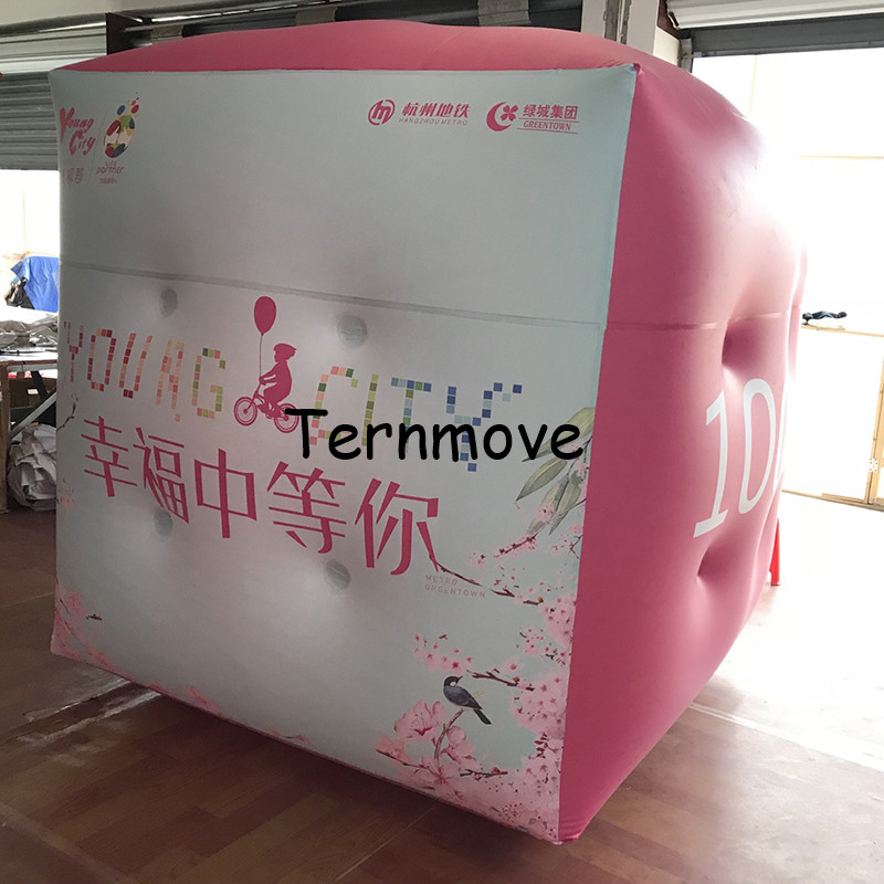 pvc sky balloon giant Square Cube Balloon Customized advertising balloons inflatable PVC helium balloon for promotionpvc sky balloon giant Square Cube Balloon Customized advertising balloons inflatable PVC helium balloon for promotion