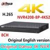 Original Dahua English Version NVR4208 8P 4KS2 H 265 NVR With 2SATA 8POE Ports 4K NVR