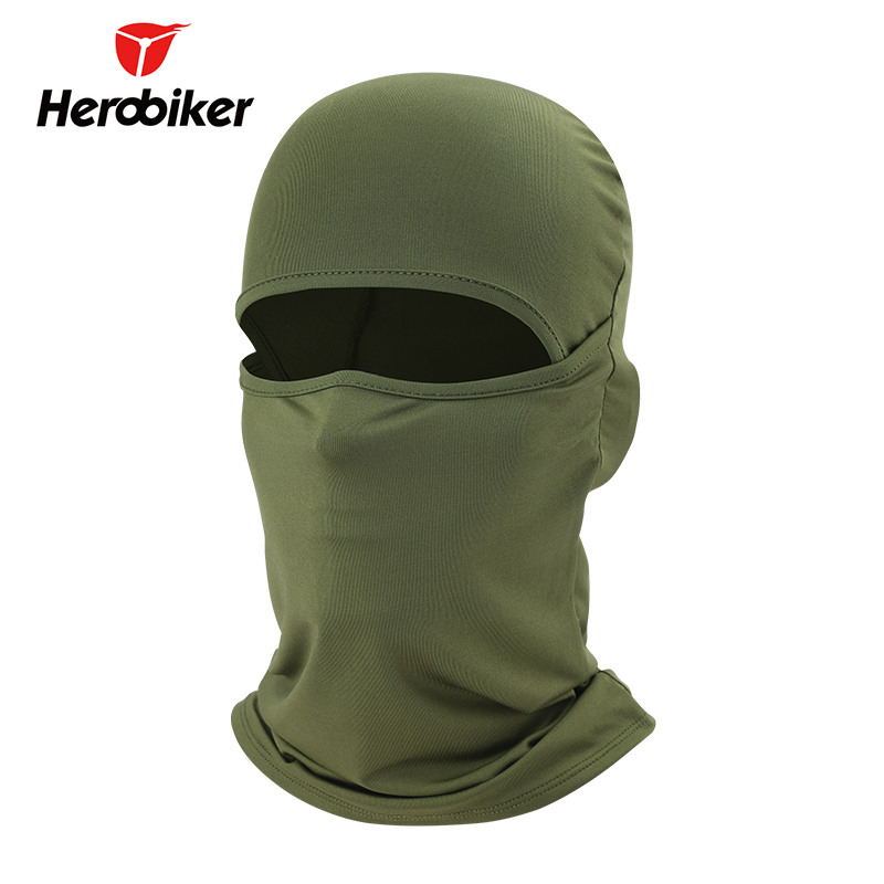 HEROBIKER Motorcycle Face Mask Moto Balaclava Airsoft Paintball Cycling Ski Mask Breathable Windproof Motorcycle Mask, 8 Colors все цены