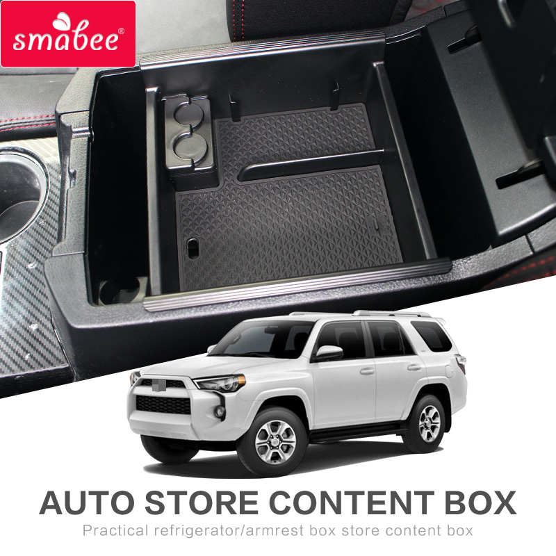 smabee Car central armrest box For <font><b>TOYOTA</b></font> <font><b>4RUNNER</b></font> <font><b>2010</b></font> - 2020 Interior Accessories Stowing Tidying Center Console Organizer image