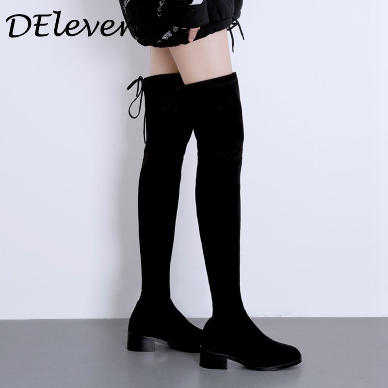 Fashion shoes thigh high boots female winter boots women over-the-knee long boots flat stretch sexy shoes 2018 winter Lady boots 2014 autumn and winter fashion women s knee high boots warm boots flat shoes sexy high boots women s boots xy086