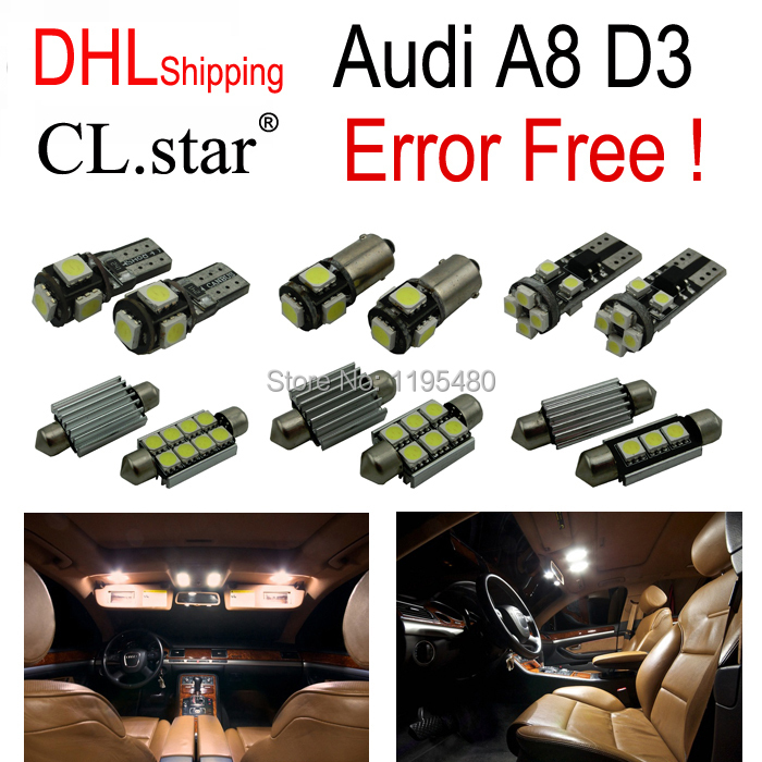 ФОТО 25pc X canbus Error Free  LED Interior Light Kit Package for Audi A8 S8 D3 Quattro (2003-2009) by DHL shipping