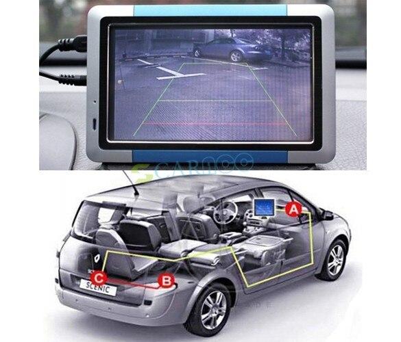 "5pcs/Lot Weatherproof 170"" Angle Car Rear View Backup Reverse Camera E128 34"