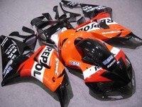 L36 Custom Injection molding fairings set for CBR 1000 RR 2006 2007 CBR1000RR 06 07 CBR 1000RR Orange Black REPSOL