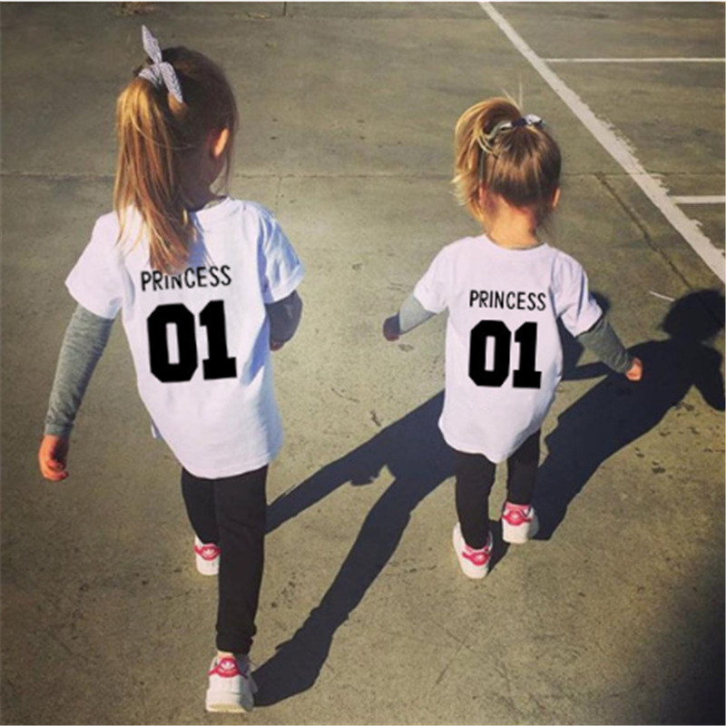 T-Shirt Number Girls Clothes Birthday-Party-Wear Kids Cotton New-Fashion for Princess