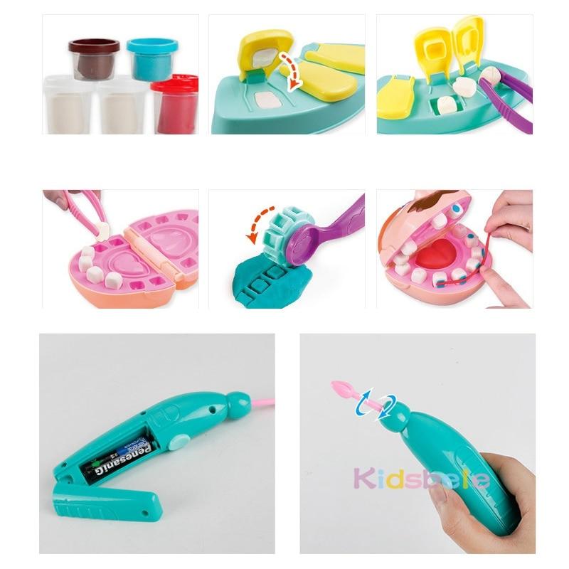 Pretend Play Dentist Clay Set 25