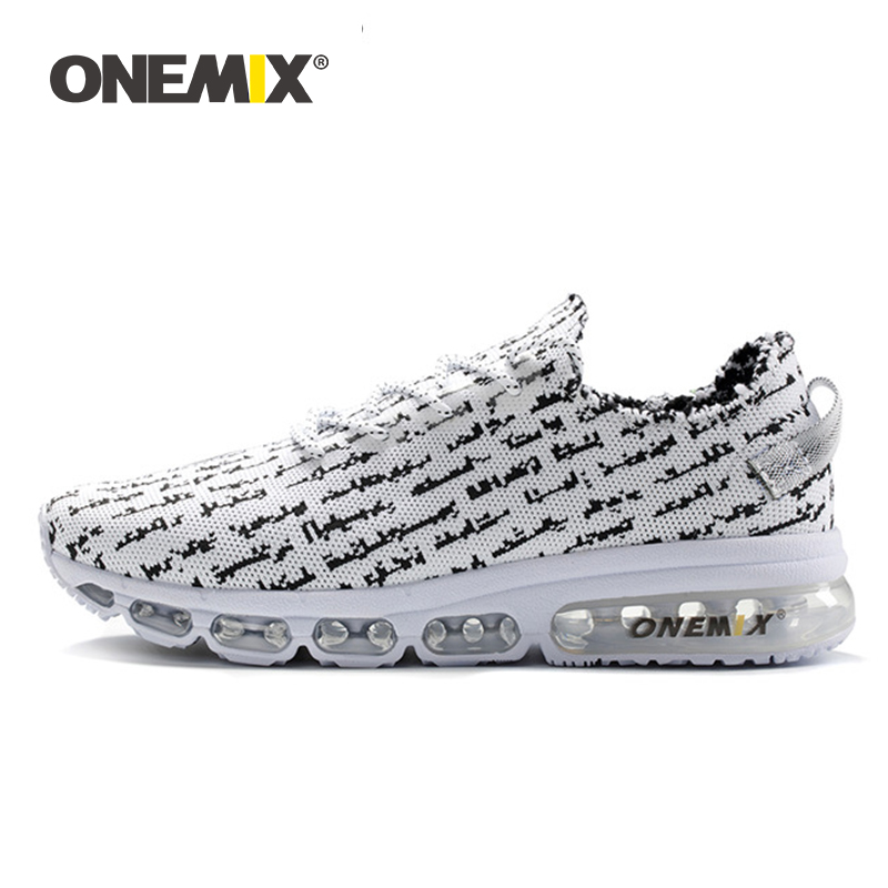 ONEMIX Men Casual Shoes  Knitted Mesh Comfort Sport Air Train Jogging Ligweight Sneakers