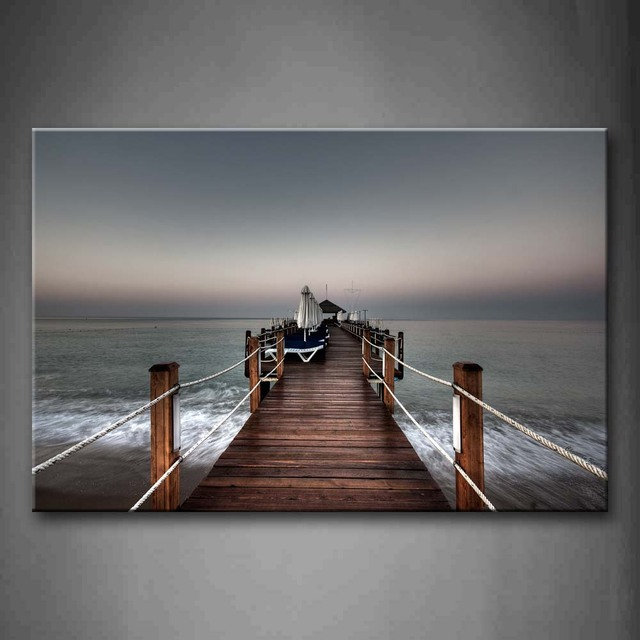 Pier Patterned Framed Wall Picture