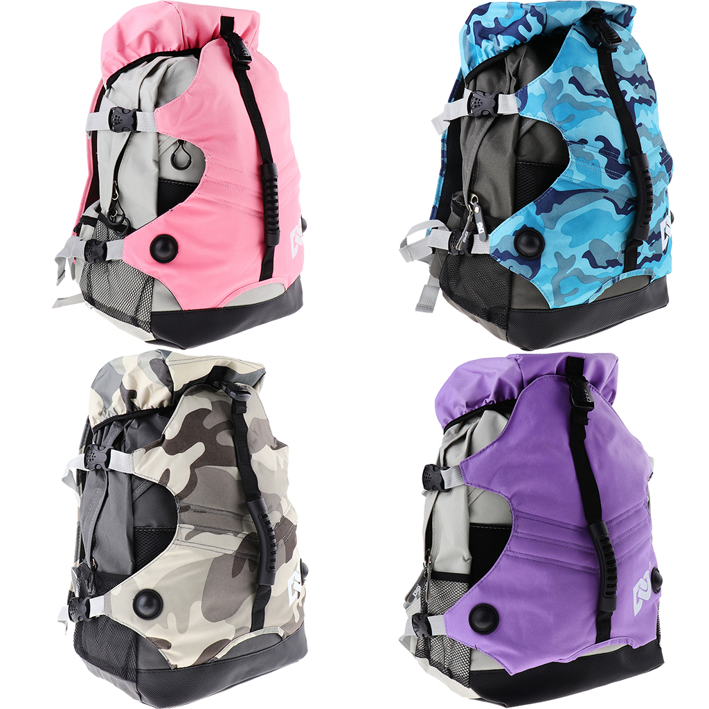 Roller Skates Backpack Inline Skates Skating Shoes Boots Carry Bag Ice Skates Storage Knapsack Outdoor Sports Bags For Men Women