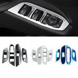 Para Chevrolet Equinox Terceiro GE 2017 2018 2019 estilo do carro porta interior painel de interruptores de vidro Da Janela capa guarnição quadro braço elevador 4 pcs