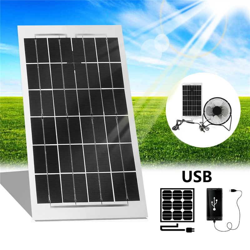 Semi Flexible Solar Panel With USB Interface 4W 6W 11W 12W 20W 24W Power For Home Free Power Ventilation Fans Smart Phone