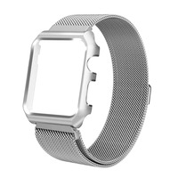 Magnetic Closure Clasp Mesh Loop Milanese Stainless Steel IWatch Band And Frame For Apple Watch Series