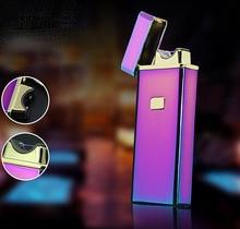 USBชีพจรชาร์จแบบชาร์จไฟอิเล็กทรอนิกส์เบาการออกแบบที่ยอดเยี่ยมไฟฟ้าarcไฟแช็คกล่องของขวัญ