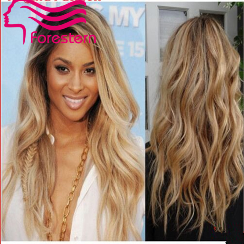 natural wave ombre lace front wigs 1bt27 with highlight