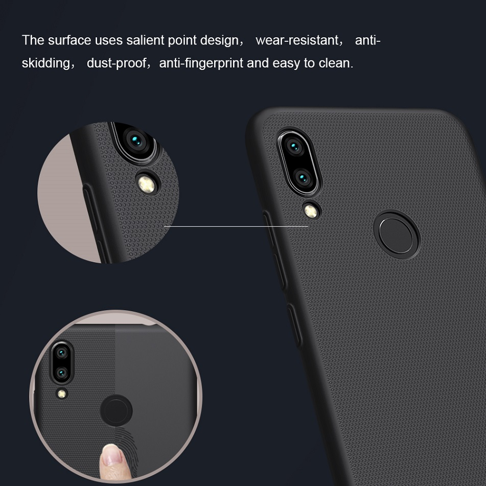 Image 3 - Redmi note 7 case 6.3 NILLKIN Frosted PC Matte hard back cover Gift Phone Holder For xiaomi redmi note 7 pro case Redmi note 7s