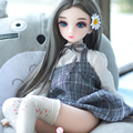 Настоящие силиконовые секс куклы 65 см мультяшная голова мини секс девушка Размер жизни искусственная Реалистичная Вагина киска взрослые с...