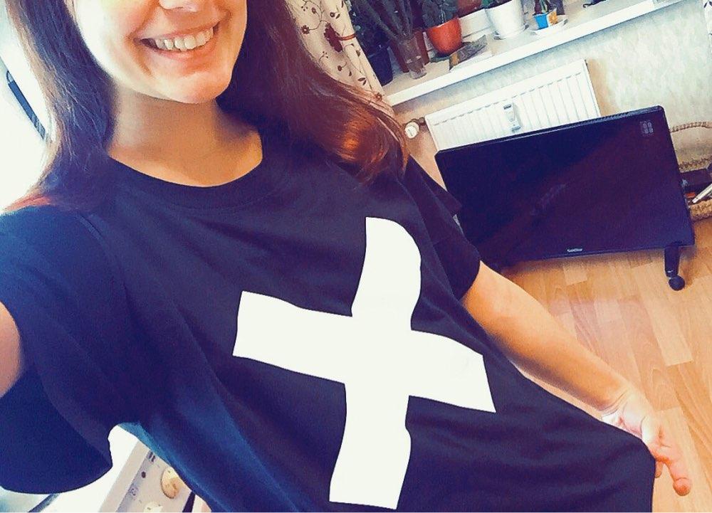 X Kreuz Druck Frauen T-shirt Baumwolle Casual Hipster Shirt Für - Damenbekleidung - Foto 4