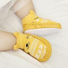 Newborn Baby Toddler Socks Anti-slip Sock Shoes Boots Floor Slipper Socks Winter Warm First Walkers Baby Ankle Snow Crib Booties