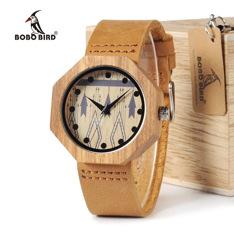 BOBO BIRD Zebra Wood Women Watches Handmade Antique Wooden Japan Movement Quartz Wristwatches As Gift Accept Engraving W-D04