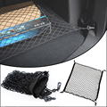 1Pcs 100*100cm Rear trunk net bag cargo net Rear Luggage Cargo Net Mesh Storage Holder 4 Hook black color SUV car protection