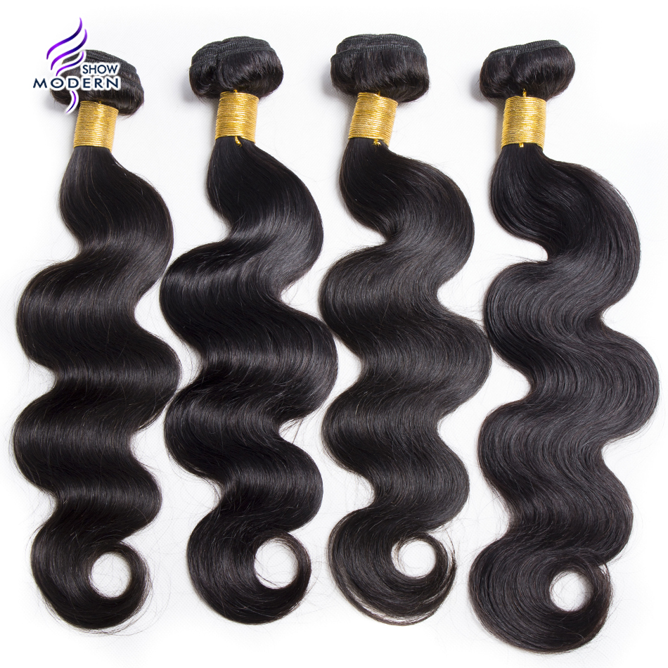 Modern Show Brazilian Body Wave Bundles Human Hair Weave 10-28 1 / 3 Piece None Remy Hair Bundles Double Weft Hair Extensions