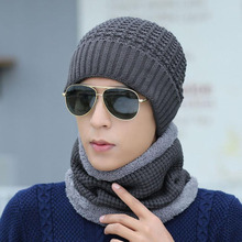 BING YUAN HAO XUAN Winter Hat Men Women Scarf Knitted Skullies Caps For Hats Mask Balaclava Bonnet 2018