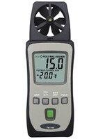 Hot Sale High Sensitivity HandHeld Anemometer Air Wind Meter Tester TM 740 Digital Temperature Meter Speed Measuring Instrument