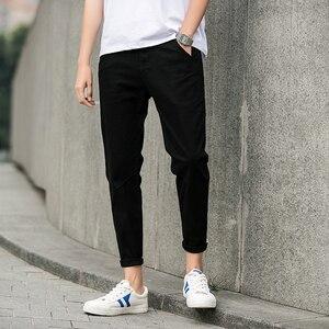 Image 3 - Jantour אביב קיץ חדש מכנסי קזואל גברים כותנה Slim Fit מכנסי כותנה באורך קרסול מכנסיים אופנה מכנסיים זכר מותג בגדים 27