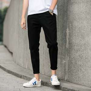 Image 3 - jantour Spring summer New Casual Pants Men Cotton Slim Fit Chinos Ankle Length Pants Fashion Trousers Male Brand Clothing 27