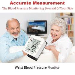 Cyfrowy nadgarstek krwi monitora urządzenie do pomiaru rytmu serca dzięki wykorzystaniu Oscillometric wskaźnik ciśnienia impulsu skanowanie wyświetlacz LCD domu opieki zdrowotnej tonometr