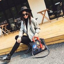 Women's handbag winter handbag shoulder bag messenger bag casual cartoon patterns graphic color block personalized bags