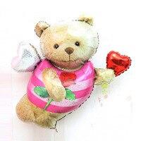 Gấu balloon party trang trí nguồn cung cấp helium foil cưới valentine sinh nhật nhập khẩu hình con vật động vật đồ chơi