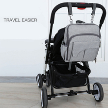 Mummy Maternity Nappy Bag Nursing With USB Interface Multifuction Dining Chair Large Capacity Stroller Backpack