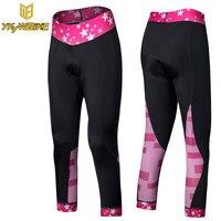 YKYWBIKE Women S Cropped Capri Pants Cycling 3 4 Pants Women Padded Pants Chamos Sports New