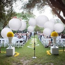 NICROLANDEE 10 pcs/set White Paper Lanterns Wedding Decorations Party DIY New Decor Bride Shower Chinese Lamp Kit