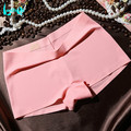 Hot New Quality Women's Boxers Safety Short Pants Fashion Sexy Brands Panties Miss Seamless Ice Silk Underwear Girls Underpant