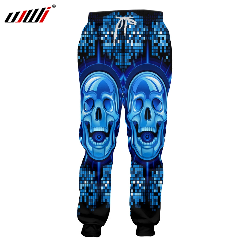 UJWI New Funny Blue Glitter Sweatpants 3D Printed Man Hip Hop DJ Skulls  Best Selling Mens Pants Wholesale Unisex Trousers-in Sweatpants from Men s  Clothing ... a2f6f3f87366